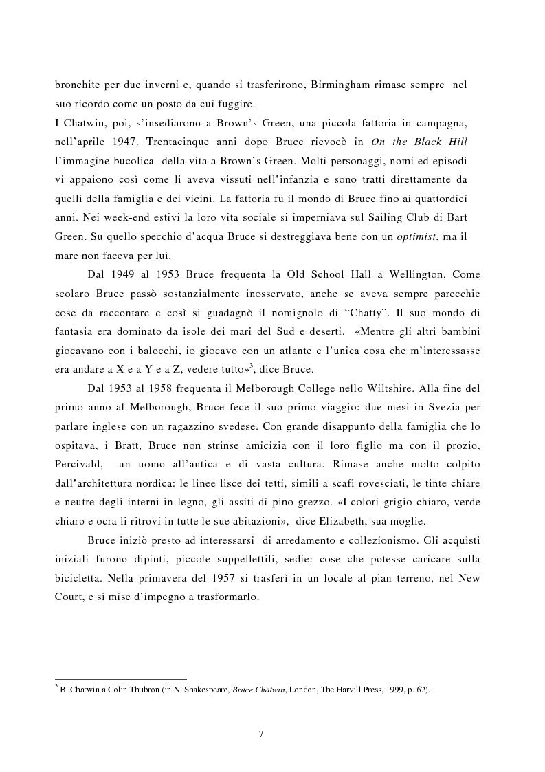 Anteprima della tesi: Nomadismo e sedentarietà nella narrativa di Bruce Chatwin, Pagina 3