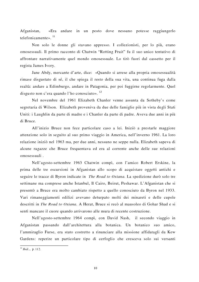 Anteprima della tesi: Nomadismo e sedentarietà nella narrativa di Bruce Chatwin, Pagina 6
