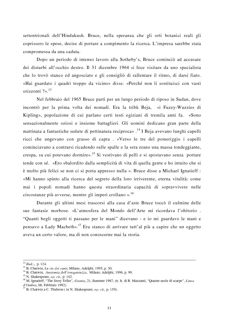 Anteprima della tesi: Nomadismo e sedentarietà nella narrativa di Bruce Chatwin, Pagina 7