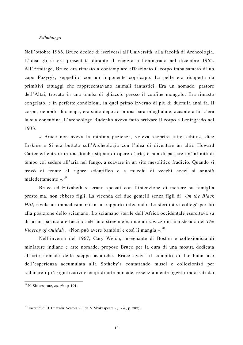Anteprima della tesi: Nomadismo e sedentarietà nella narrativa di Bruce Chatwin, Pagina 9