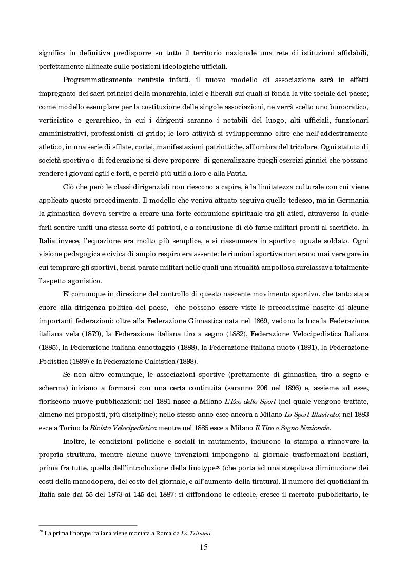 Anteprima della tesi: Un secolo in testa al gruppo: cenni di storia della Gazzetta dello Sport, Pagina 11