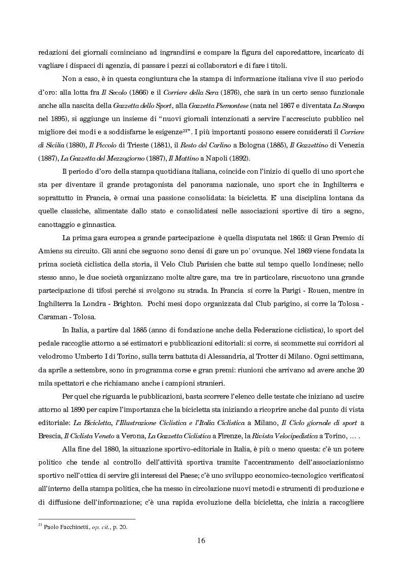 Anteprima della tesi: Un secolo in testa al gruppo: cenni di storia della Gazzetta dello Sport, Pagina 12