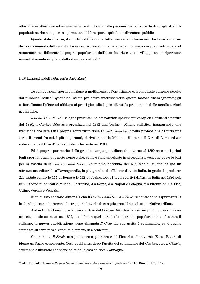 Anteprima della tesi: Un secolo in testa al gruppo: cenni di storia della Gazzetta dello Sport, Pagina 13