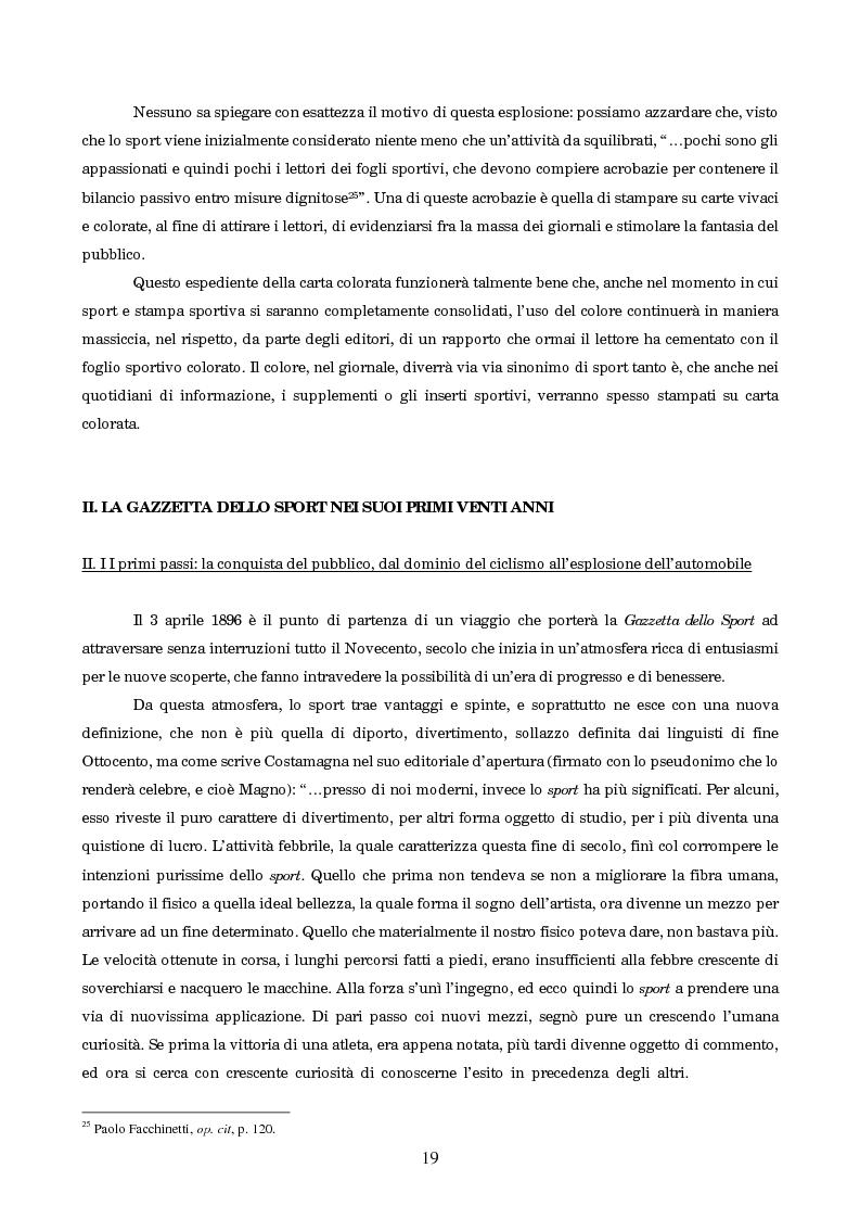 Anteprima della tesi: Un secolo in testa al gruppo: cenni di storia della Gazzetta dello Sport, Pagina 15