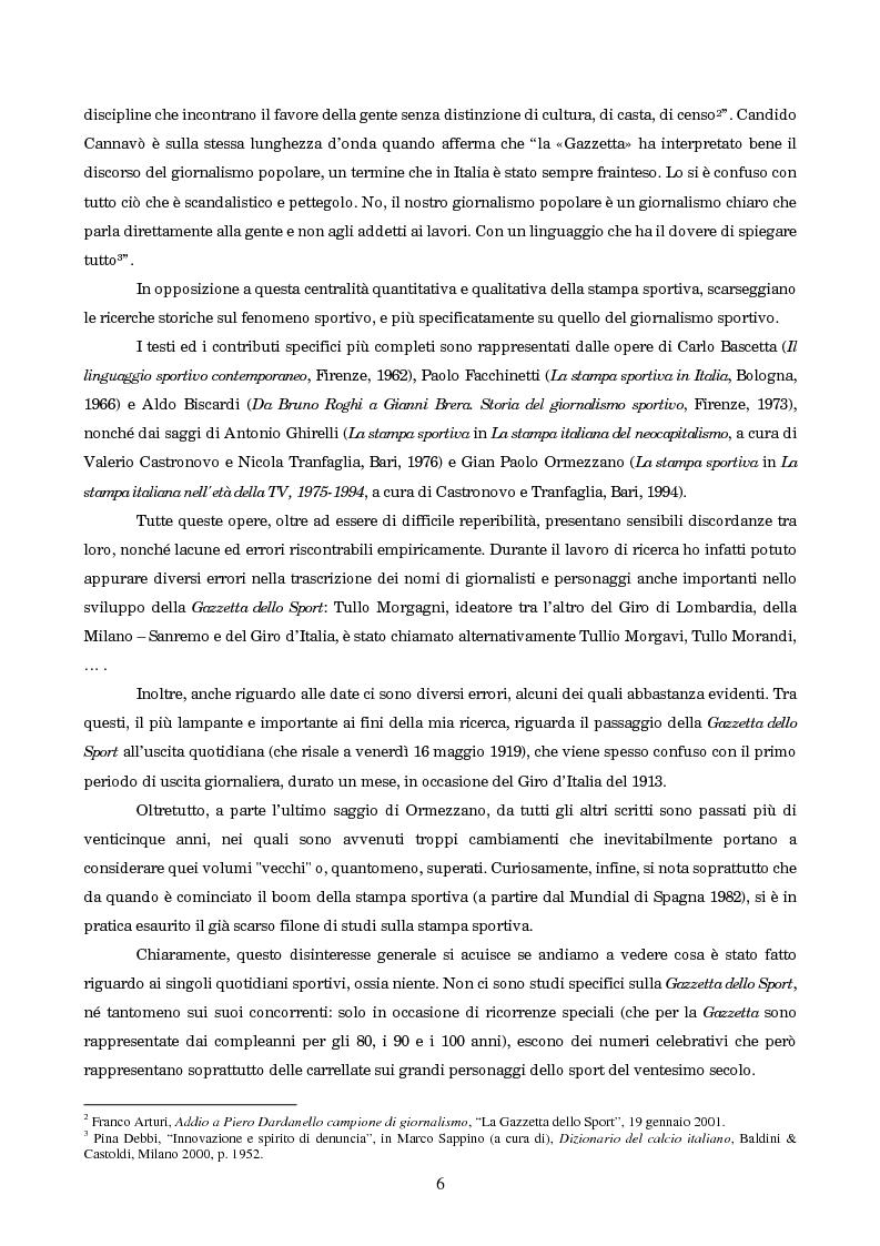 Anteprima della tesi: Un secolo in testa al gruppo: cenni di storia della Gazzetta dello Sport, Pagina 2