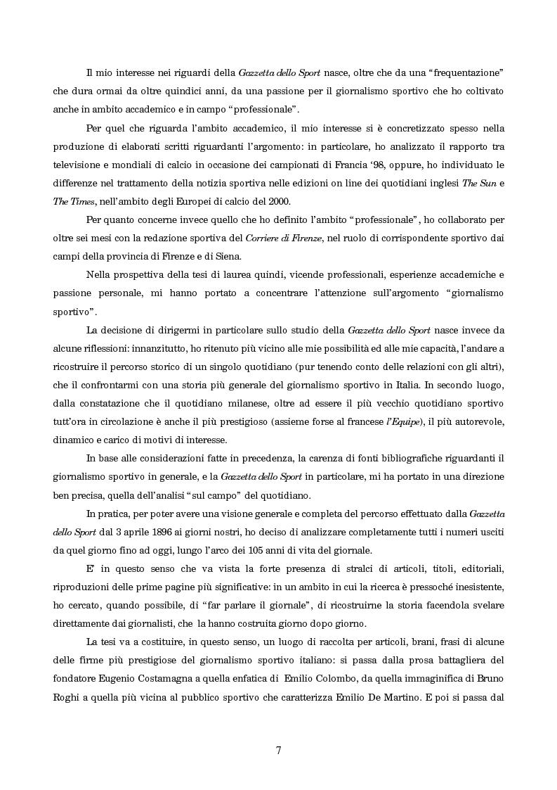 Anteprima della tesi: Un secolo in testa al gruppo: cenni di storia della Gazzetta dello Sport, Pagina 3