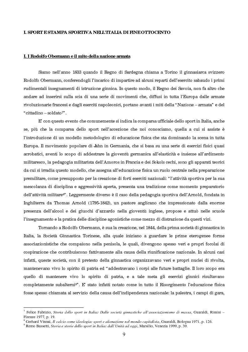 Anteprima della tesi: Un secolo in testa al gruppo: cenni di storia della Gazzetta dello Sport, Pagina 5