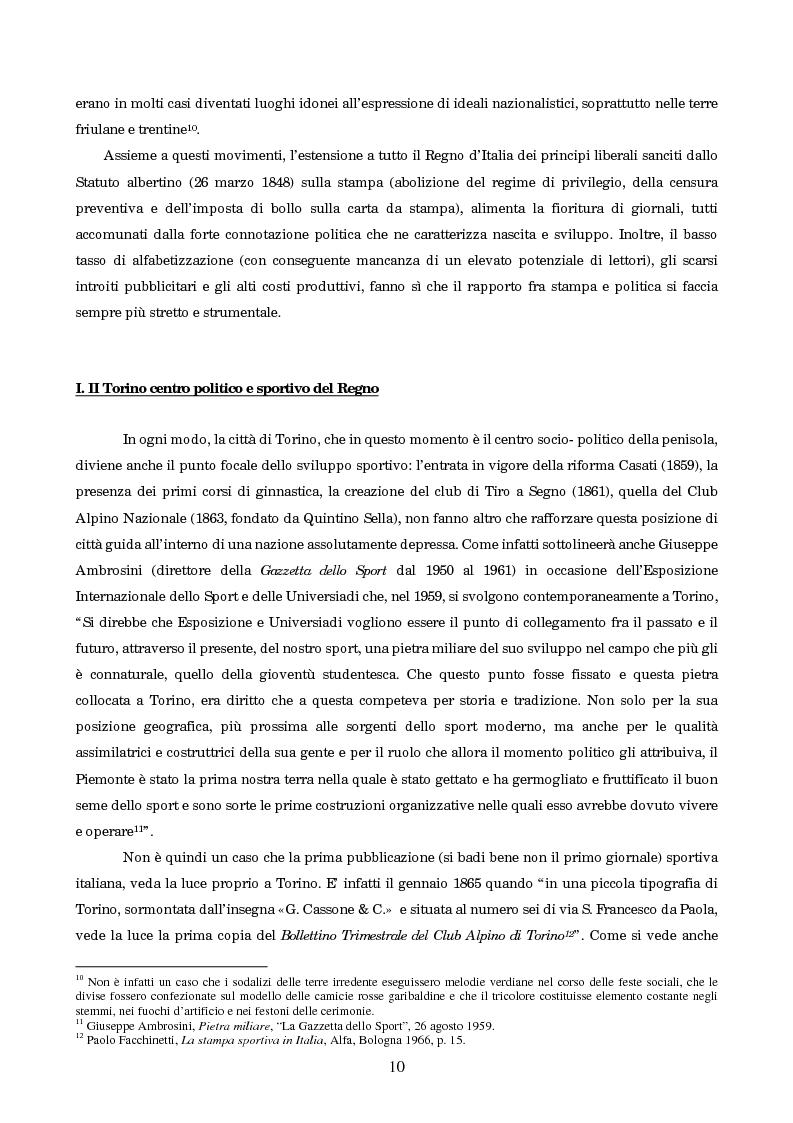 Anteprima della tesi: Un secolo in testa al gruppo: cenni di storia della Gazzetta dello Sport, Pagina 6