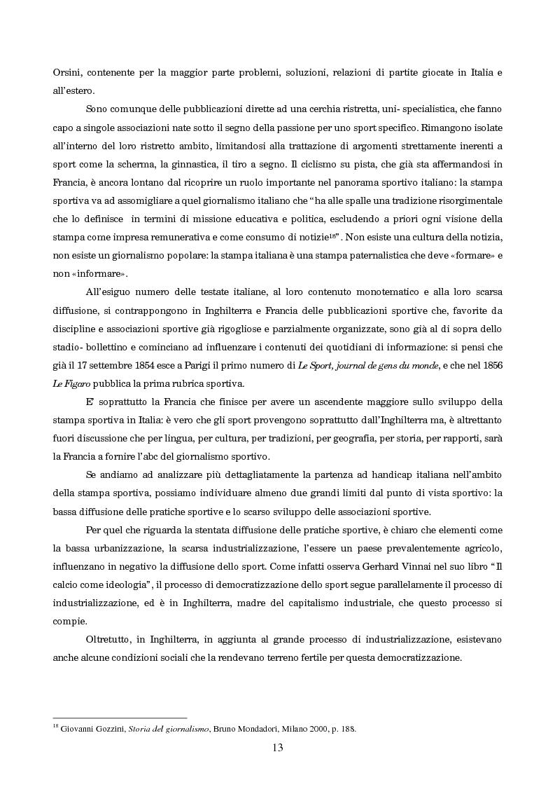 Anteprima della tesi: Un secolo in testa al gruppo: cenni di storia della Gazzetta dello Sport, Pagina 9