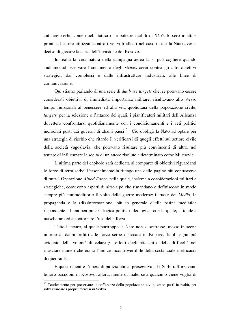Anteprima della tesi: Il potere aereo nell'età della rivoluzione negli affari militari. Il caso della campagna aerea Nato per il Kosovo., Pagina 10