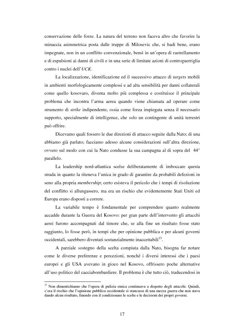 Anteprima della tesi: Il potere aereo nell'età della rivoluzione negli affari militari. Il caso della campagna aerea Nato per il Kosovo., Pagina 12
