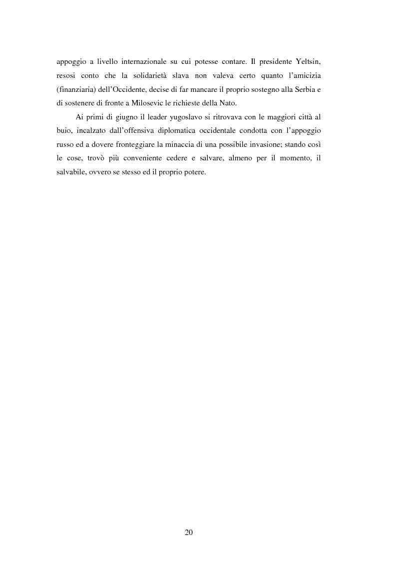 Anteprima della tesi: Il potere aereo nell'età della rivoluzione negli affari militari. Il caso della campagna aerea Nato per il Kosovo., Pagina 15
