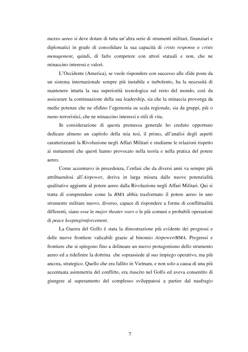 Anteprima della tesi: Il potere aereo nell'età della rivoluzione negli affari militari. Il caso della campagna aerea Nato per il Kosovo., Pagina 2