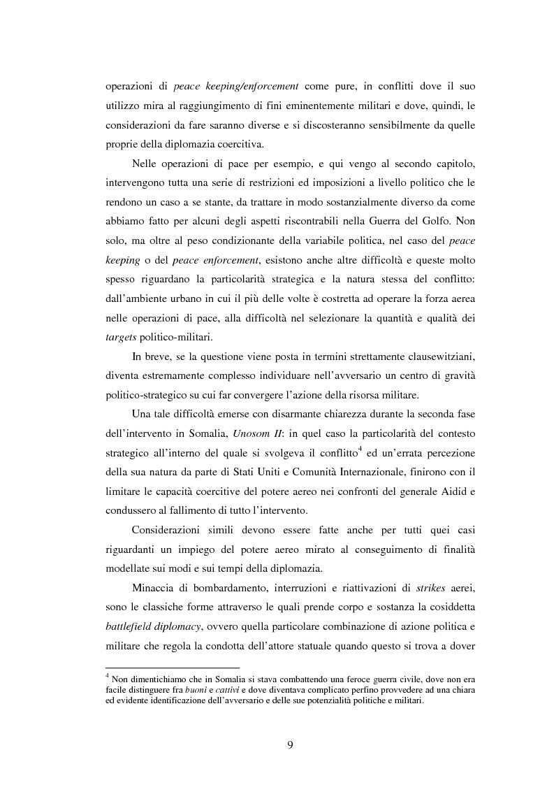 Anteprima della tesi: Il potere aereo nell'età della rivoluzione negli affari militari. Il caso della campagna aerea Nato per il Kosovo., Pagina 4