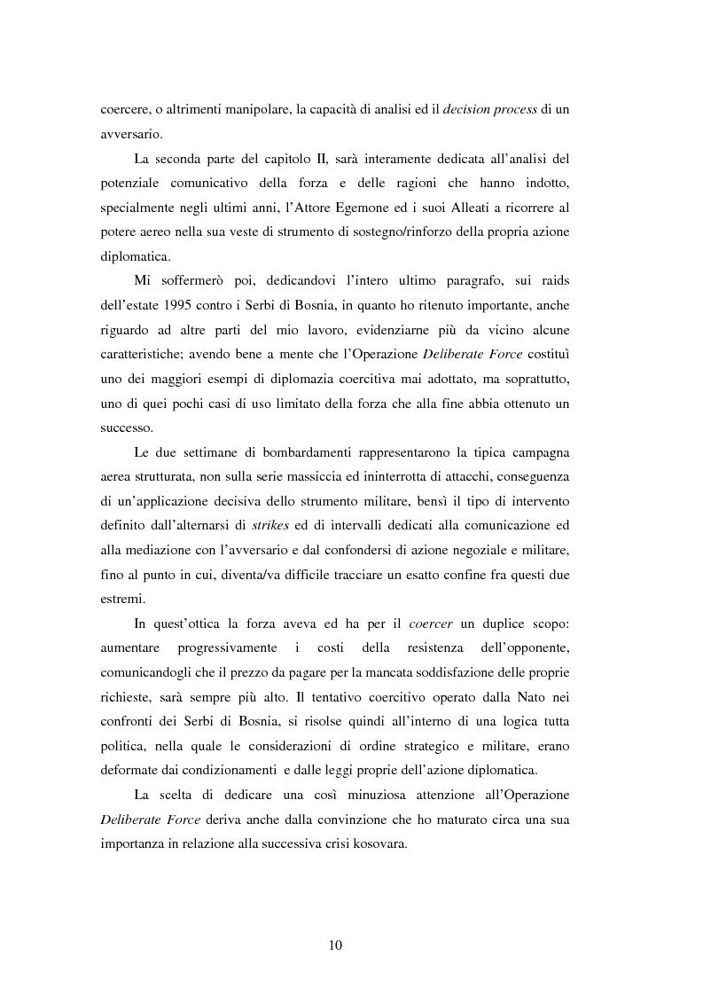 Anteprima della tesi: Il potere aereo nell'età della rivoluzione negli affari militari. Il caso della campagna aerea Nato per il Kosovo., Pagina 5