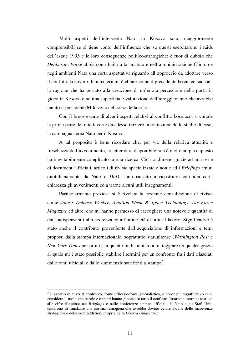Anteprima della tesi: Il potere aereo nell'età della rivoluzione negli affari militari. Il caso della campagna aerea Nato per il Kosovo., Pagina 6