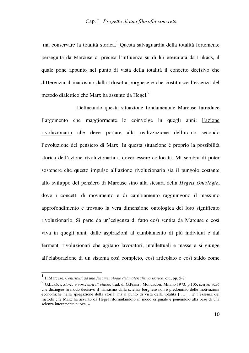 Anteprima della tesi: Ontologia, storicità e vita nell'interpretazione marcusiana di Hegel, Pagina 10