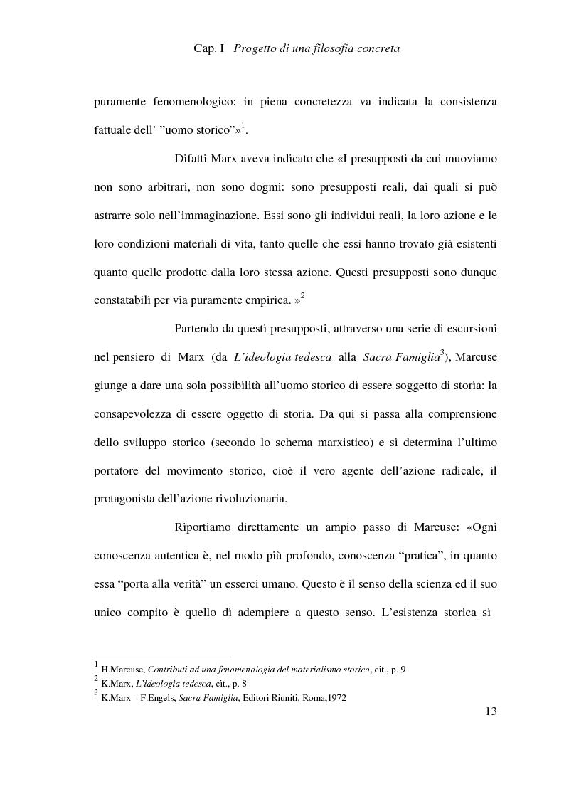Anteprima della tesi: Ontologia, storicità e vita nell'interpretazione marcusiana di Hegel, Pagina 13