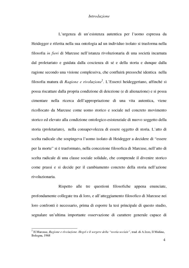 Anteprima della tesi: Ontologia, storicità e vita nell'interpretazione marcusiana di Hegel, Pagina 4