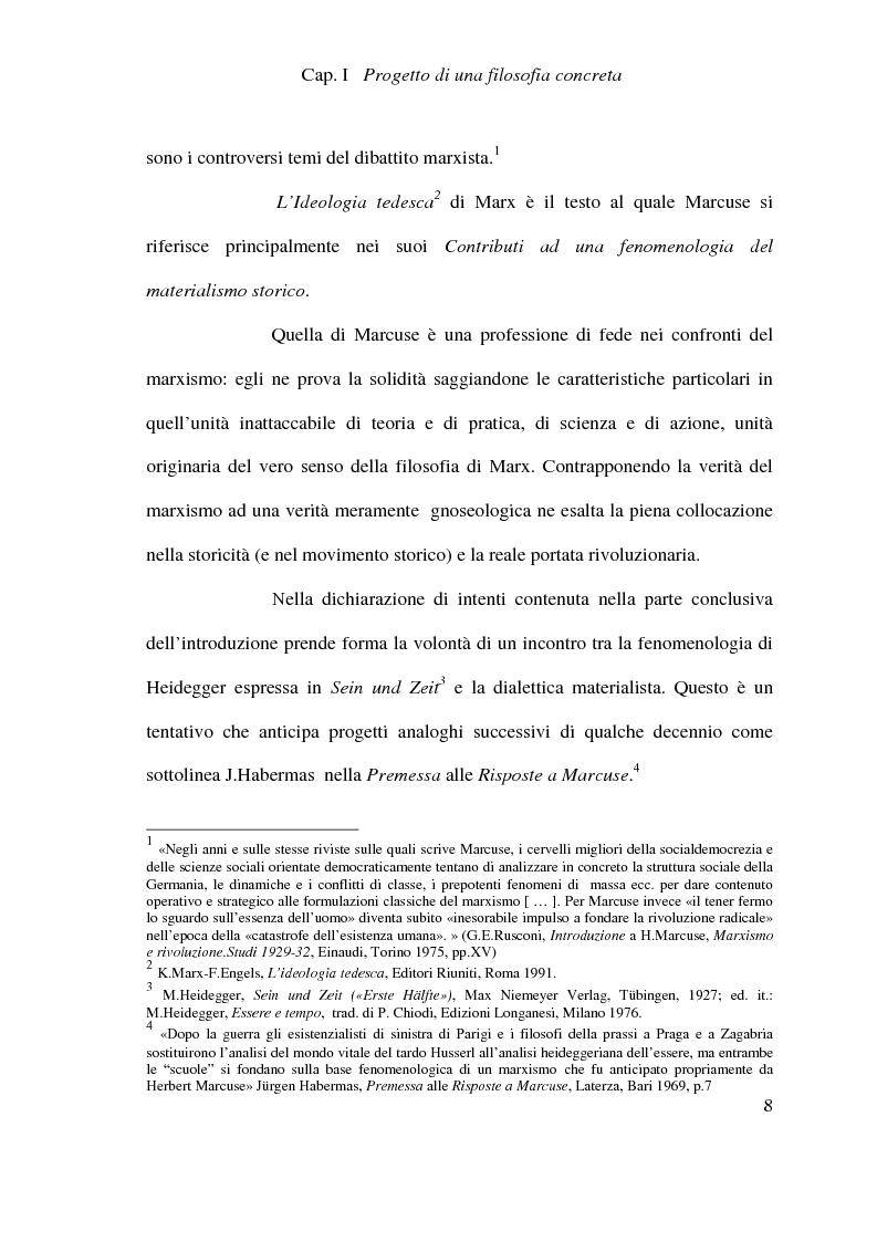 Anteprima della tesi: Ontologia, storicità e vita nell'interpretazione marcusiana di Hegel, Pagina 8