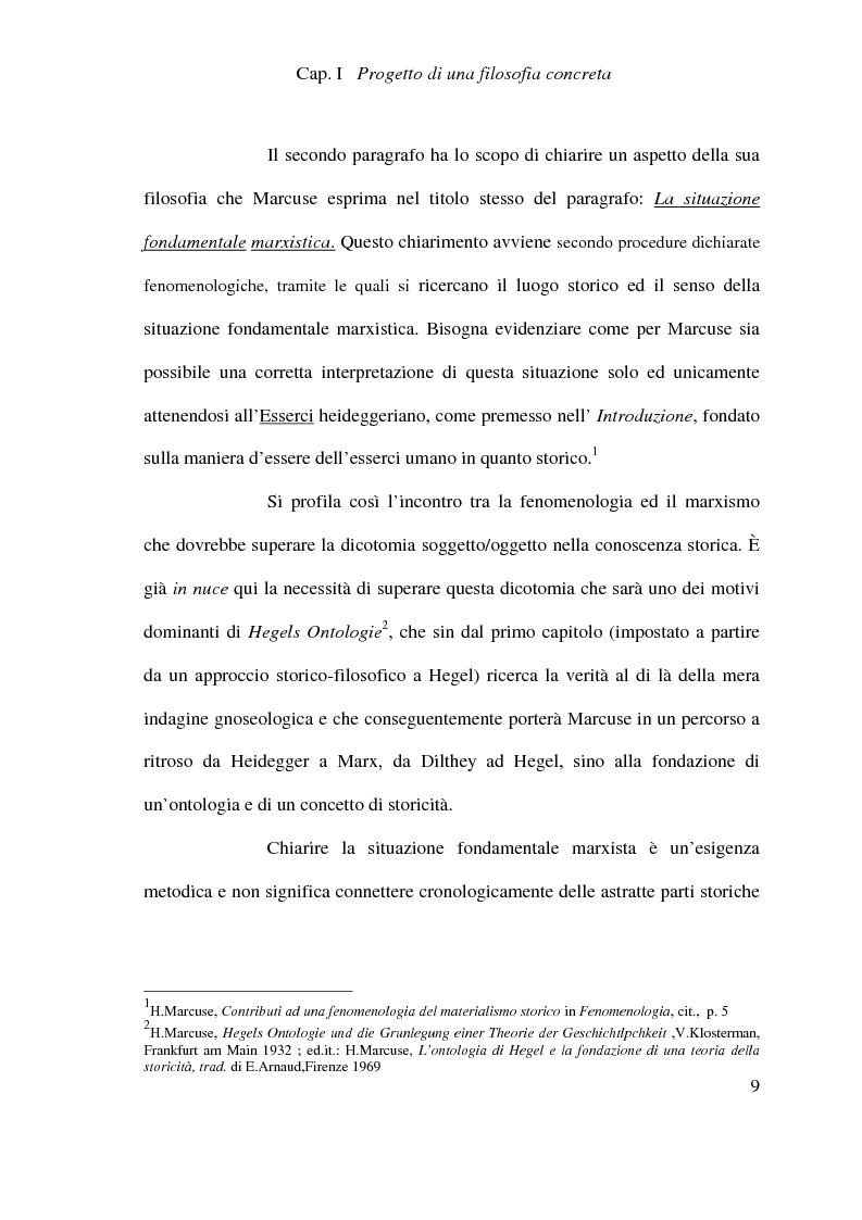Anteprima della tesi: Ontologia, storicità e vita nell'interpretazione marcusiana di Hegel, Pagina 9