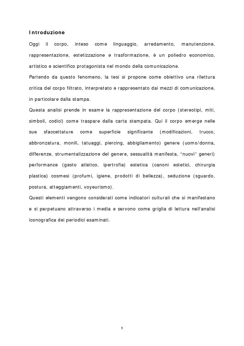 Anteprima della tesi: Il corpo stampato, Pagina 1