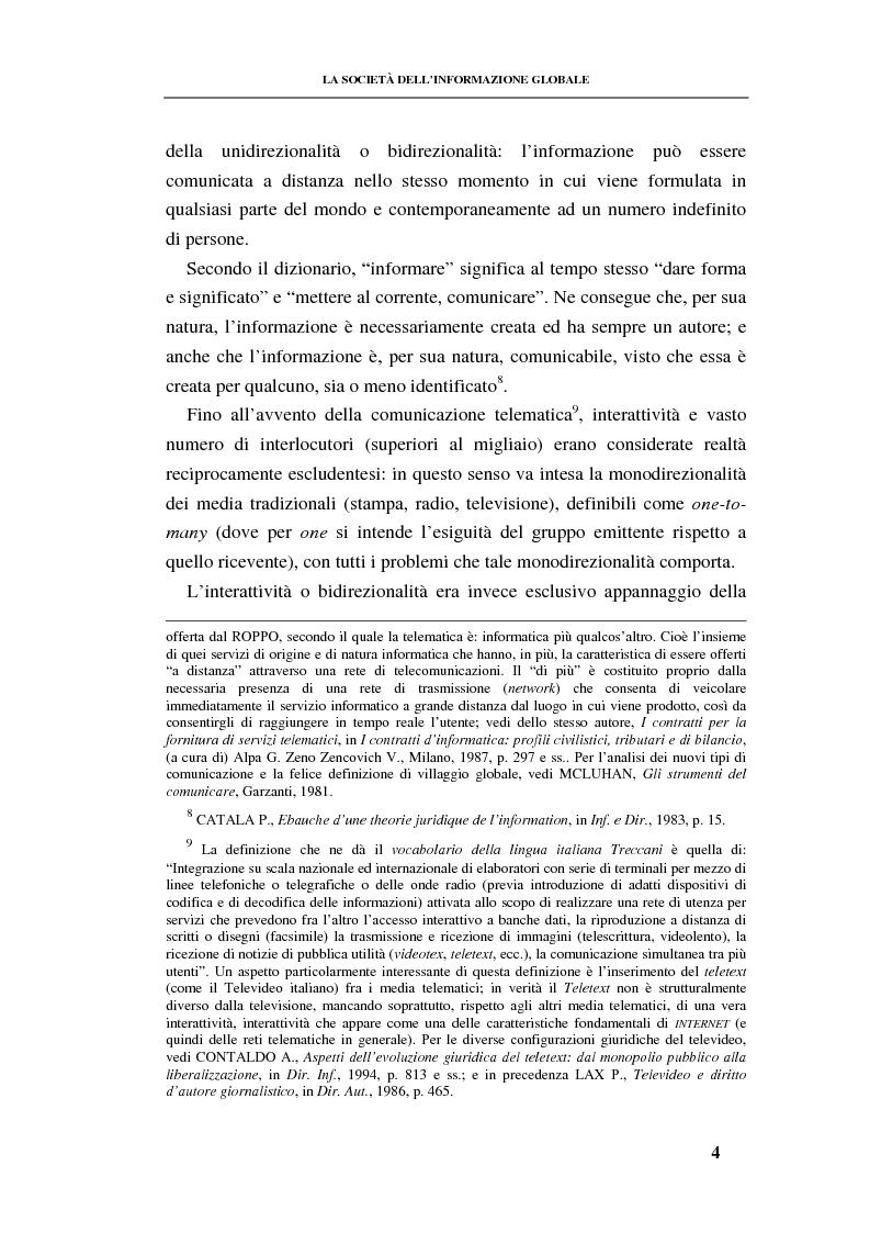 Anteprima della tesi: La responsabilità contrattuale ed aquiliana del fornitore di servizi telematici, Pagina 3