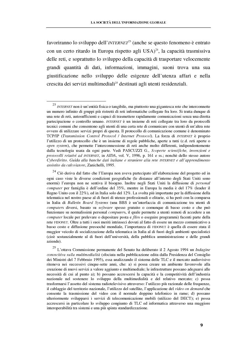 Anteprima della tesi: La responsabilità contrattuale ed aquiliana del fornitore di servizi telematici, Pagina 8
