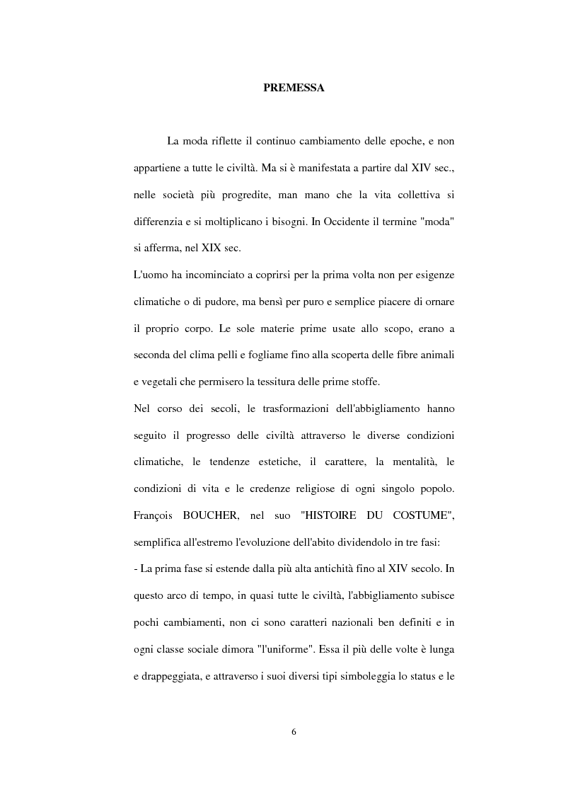 Anteprima della tesi: Alta moda e pret à porter. Dalla couture francese allo stile italiano, Pagina 1