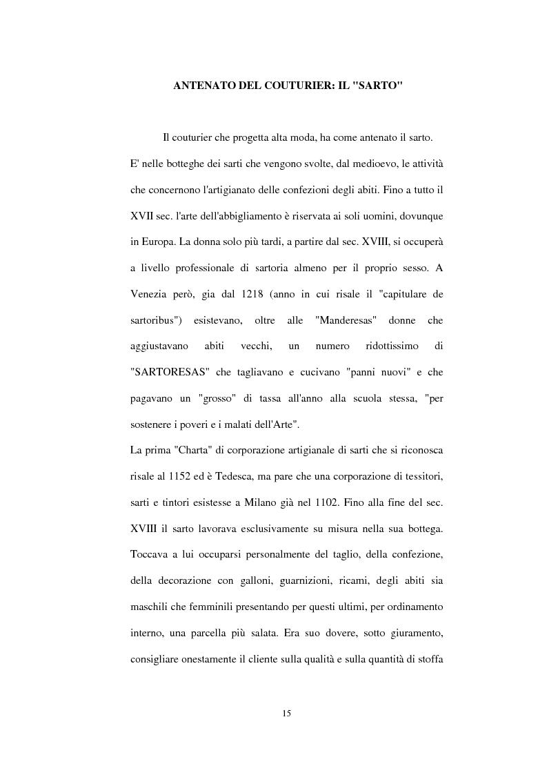 Anteprima della tesi: Alta moda e pret à porter. Dalla couture francese allo stile italiano, Pagina 10