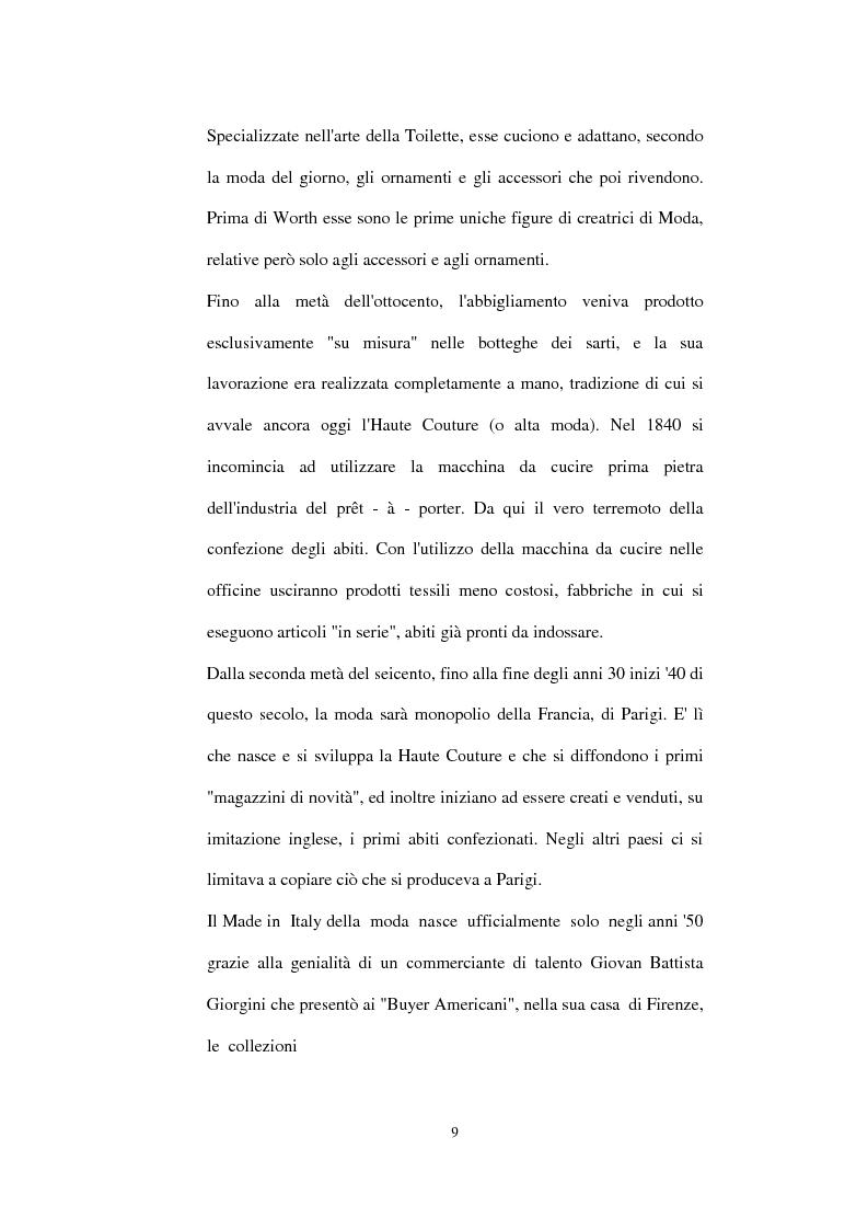 Anteprima della tesi: Alta moda e pret à porter. Dalla couture francese allo stile italiano, Pagina 4