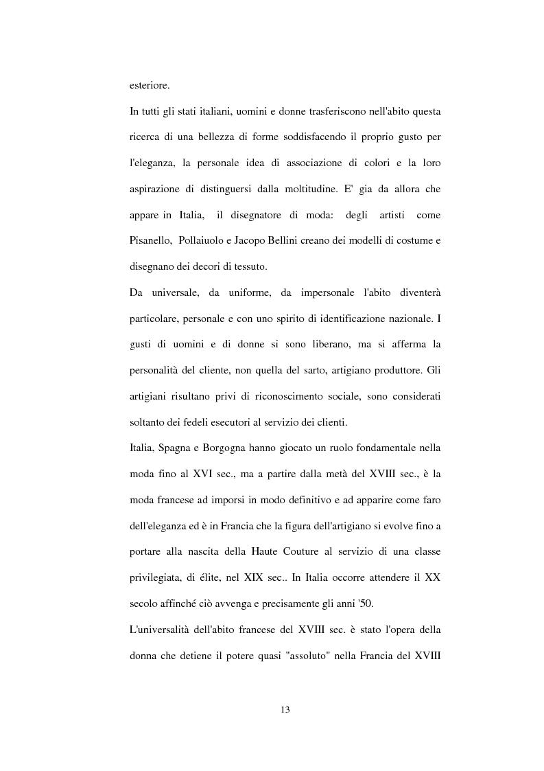 Anteprima della tesi: Alta moda e pret à porter. Dalla couture francese allo stile italiano, Pagina 8