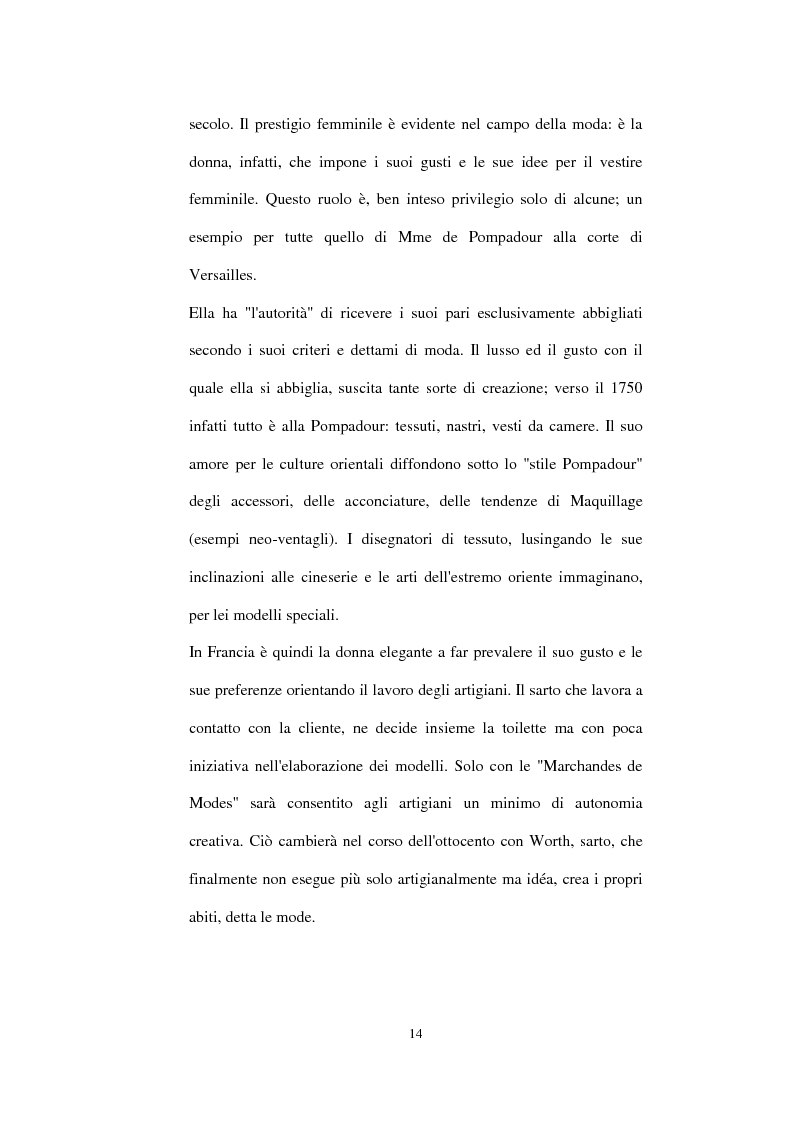 Anteprima della tesi: Alta moda e pret à porter. Dalla couture francese allo stile italiano, Pagina 9