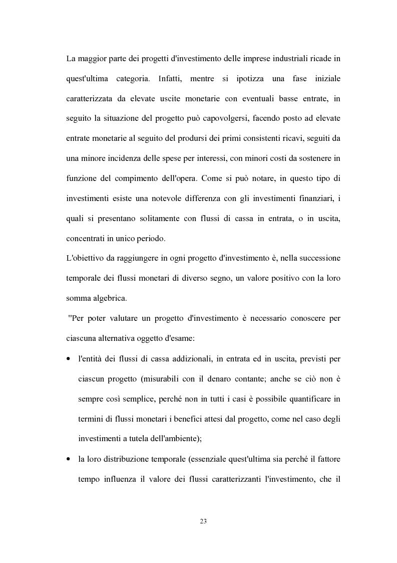 Anteprima della tesi: Valutazione dei progetti di investimento industriali, Pagina 8
