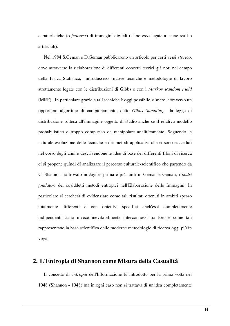 Anteprima della tesi: Metodi statistici ed entropici per l'apprendimento e l'analisi automatica di immagini digitali, Pagina 10