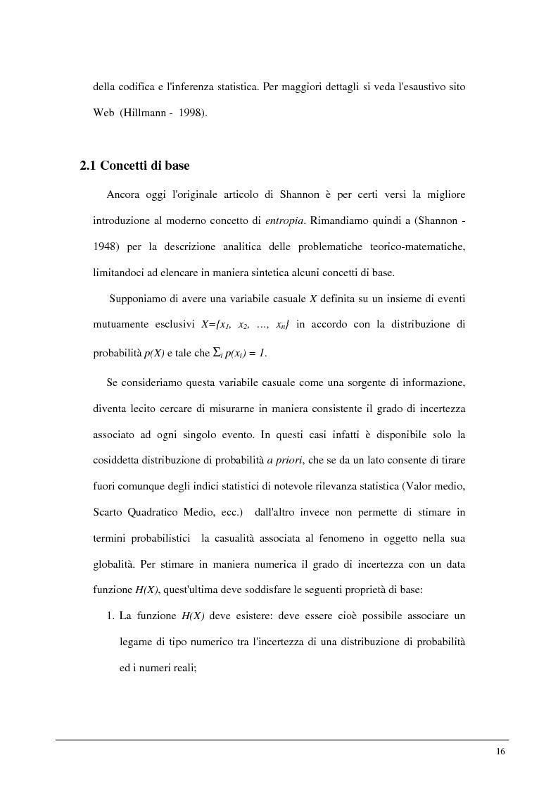 Anteprima della tesi: Metodi statistici ed entropici per l'apprendimento e l'analisi automatica di immagini digitali, Pagina 12