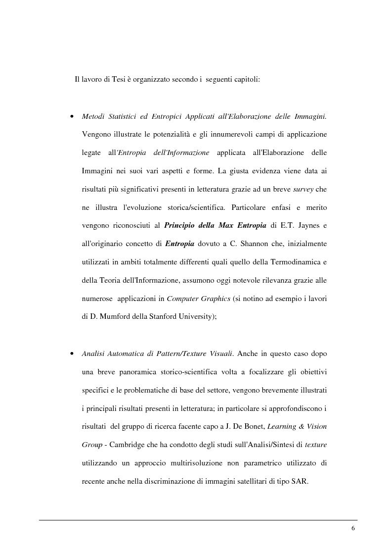 Anteprima della tesi: Metodi statistici ed entropici per l'apprendimento e l'analisi automatica di immagini digitali, Pagina 2