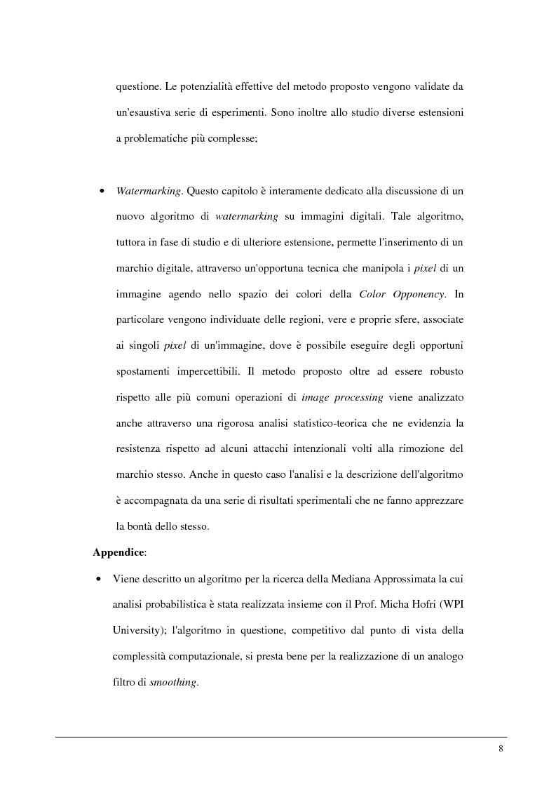Anteprima della tesi: Metodi statistici ed entropici per l'apprendimento e l'analisi automatica di immagini digitali, Pagina 4
