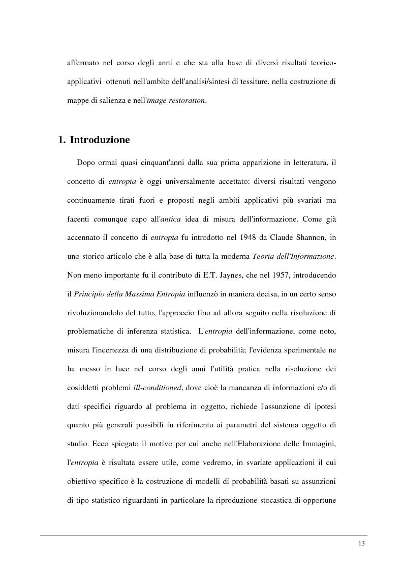 Anteprima della tesi: Metodi statistici ed entropici per l'apprendimento e l'analisi automatica di immagini digitali, Pagina 9