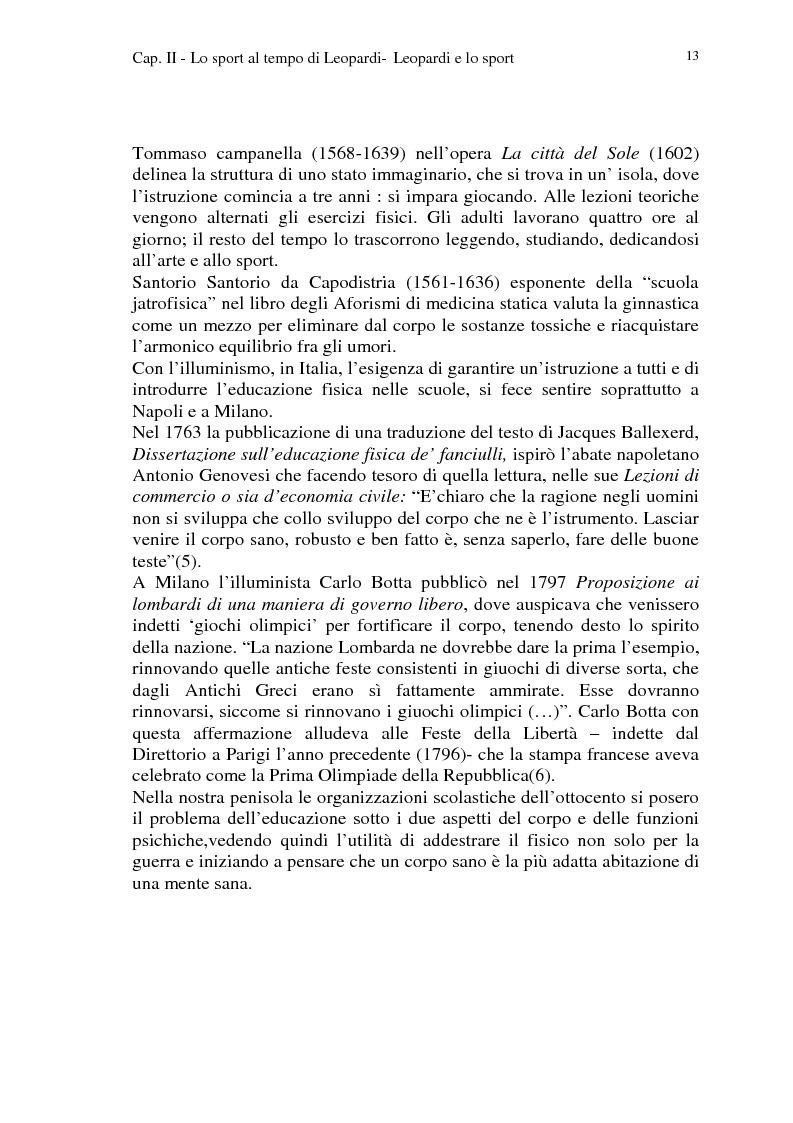 Anteprima della tesi: Leopardi e lo sport, Pagina 10