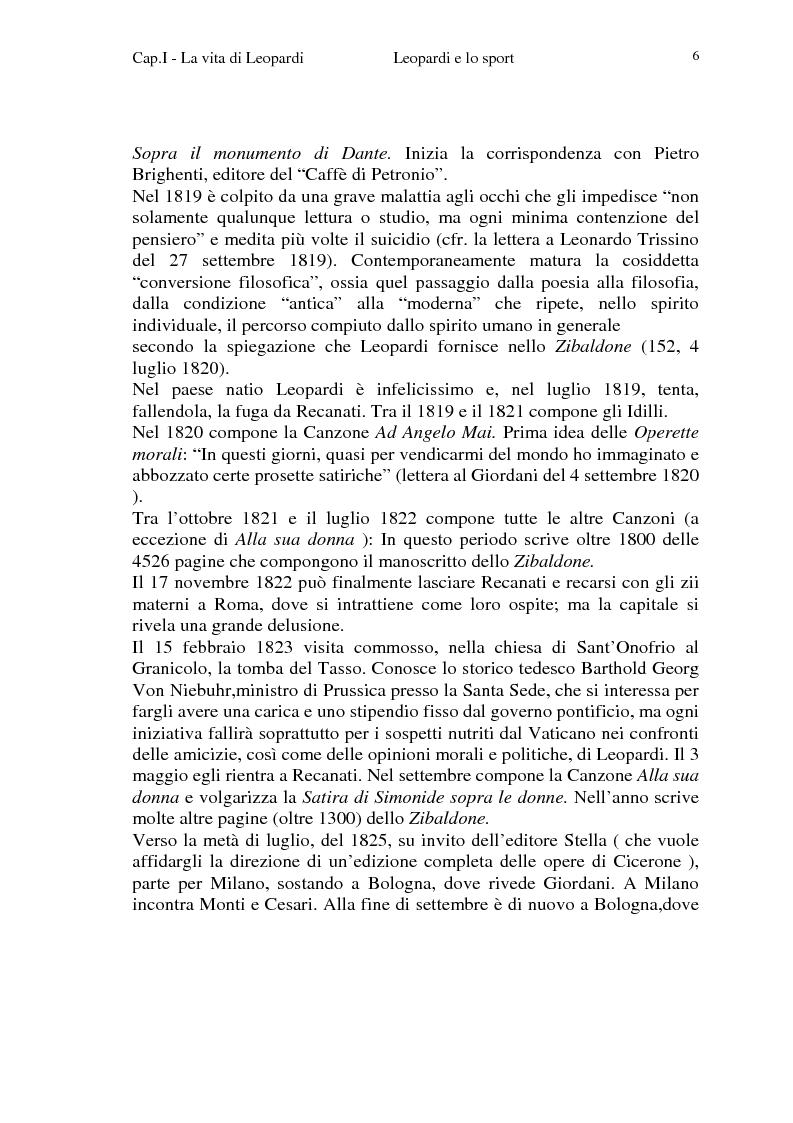 Anteprima della tesi: Leopardi e lo sport, Pagina 3