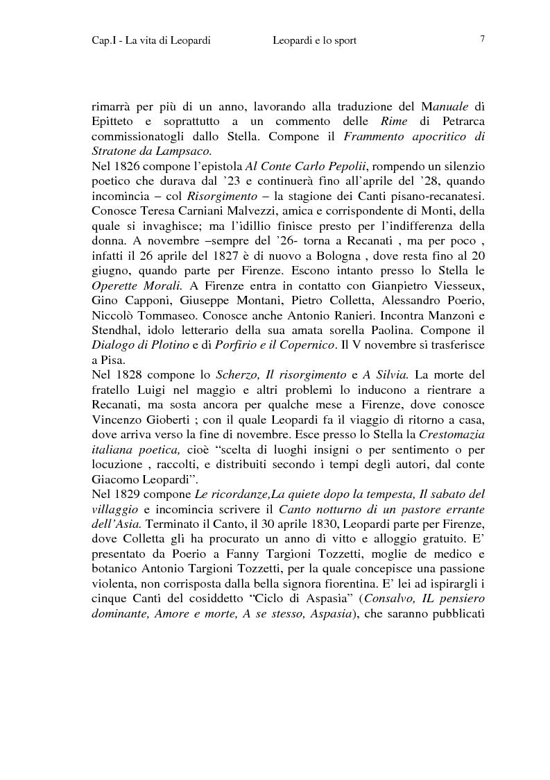 Anteprima della tesi: Leopardi e lo sport, Pagina 4
