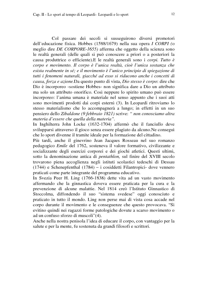 Anteprima della tesi: Leopardi e lo sport, Pagina 9