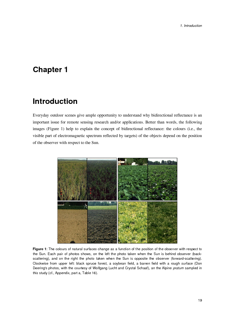 Anteprima della tesi: Anisotropia del campo della radiazione riflessa sulle superfici naturali, Pagina 13