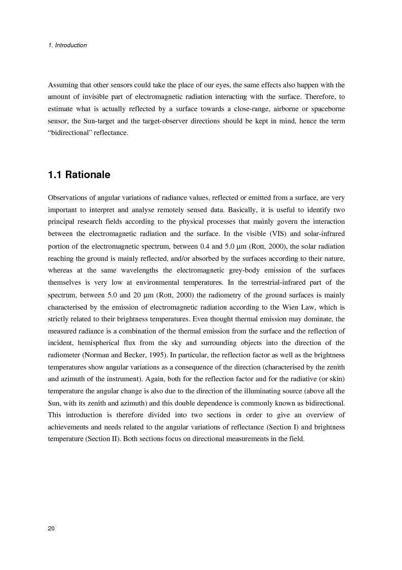 Anteprima della tesi: Anisotropia del campo della radiazione riflessa sulle superfici naturali, Pagina 14
