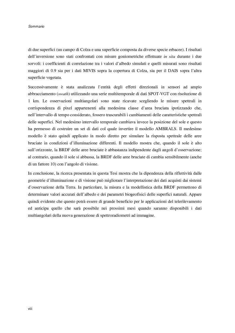 Anteprima della tesi: Anisotropia del campo della radiazione riflessa sulle superfici naturali, Pagina 2