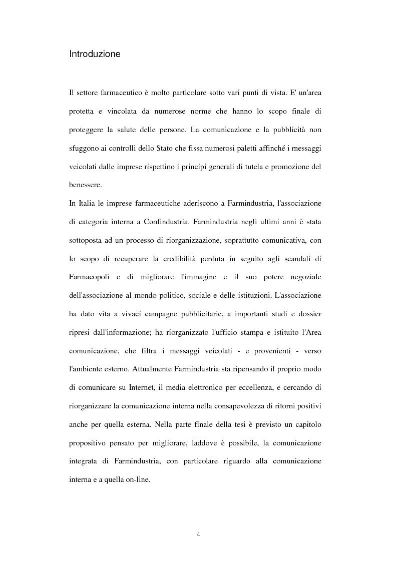 Anteprima della tesi: Comunicazione e immagine nell'industria farmaceutica, Pagina 1