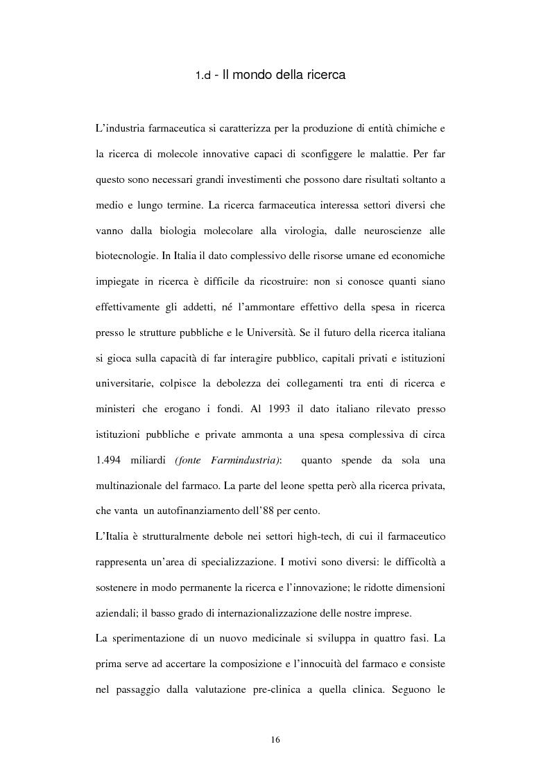 Anteprima della tesi: Comunicazione e immagine nell'industria farmaceutica, Pagina 13