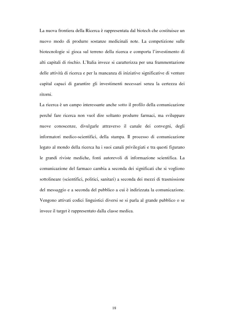 Anteprima della tesi: Comunicazione e immagine nell'industria farmaceutica, Pagina 15