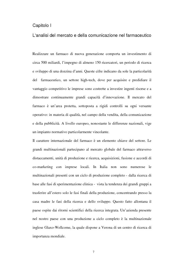 Anteprima della tesi: Comunicazione e immagine nell'industria farmaceutica, Pagina 4